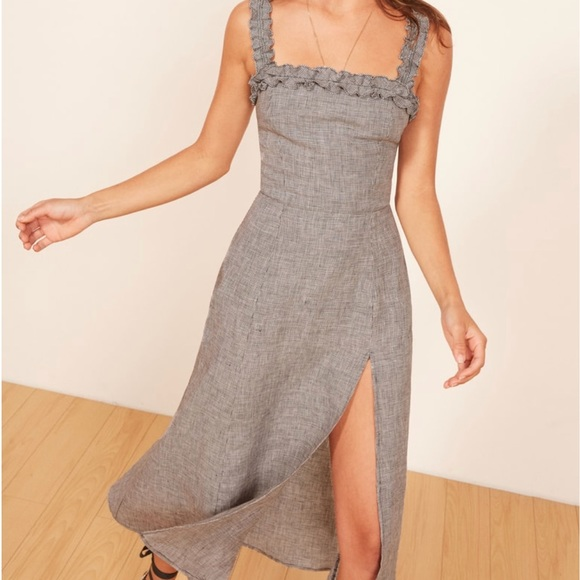 f103ba6d108d3 Reformation Lavender Front Slit Midi Dress. M_5b4b7046194dada1d148a75e